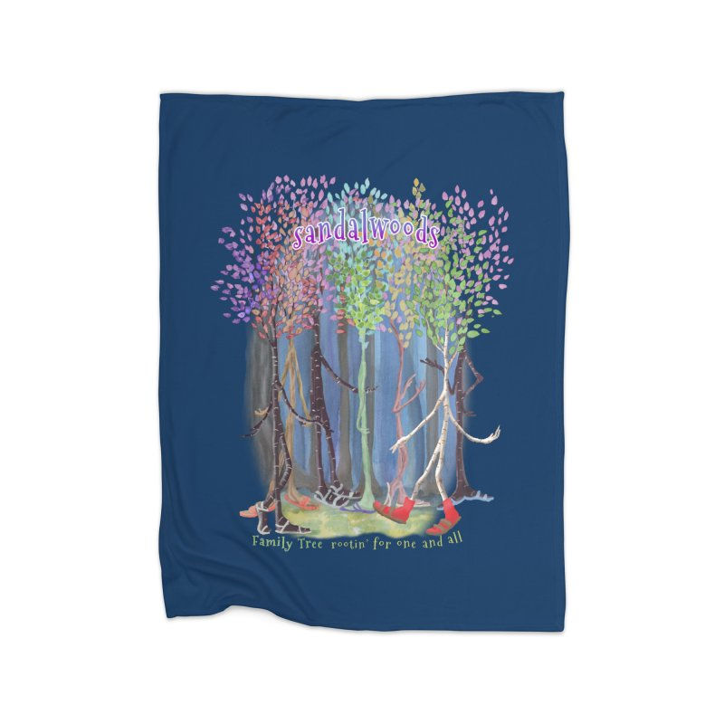 Sandalwoods Home Fleece Blanket Blanket by Family Tree Artist Shop