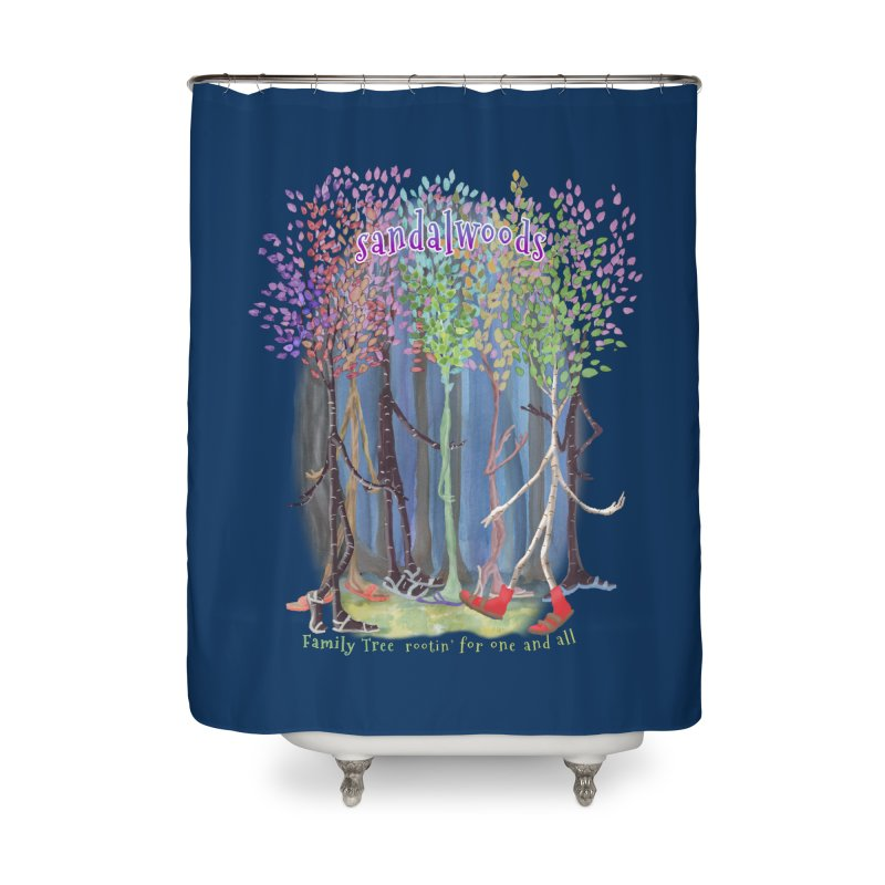 Sandalwoods Home Shower Curtain by Family Tree Artist Shop