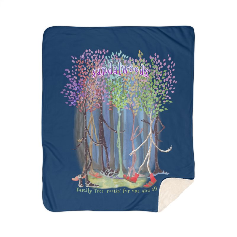 Sandalwoods Home Sherpa Blanket Blanket by Family Tree Artist Shop