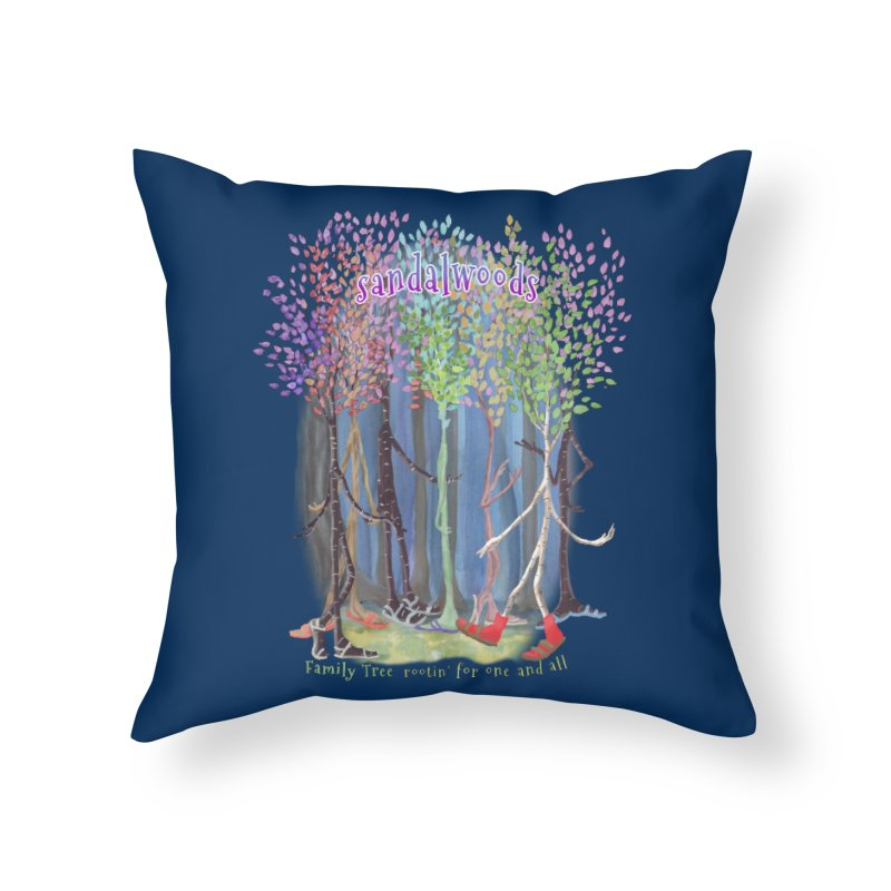 Sandalwoods Home Throw Pillow by Family Tree Artist Shop