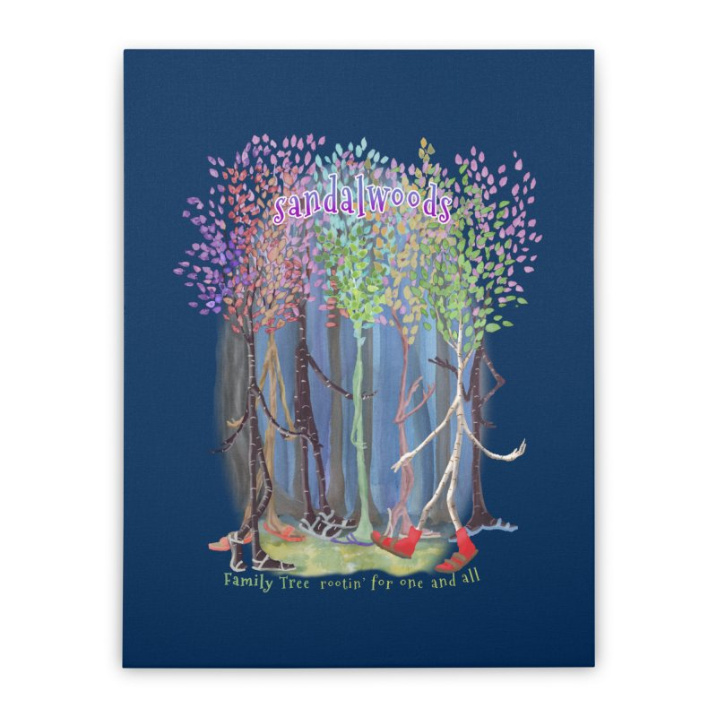 Sandalwoods Home Stretched Canvas by Family Tree Artist Shop