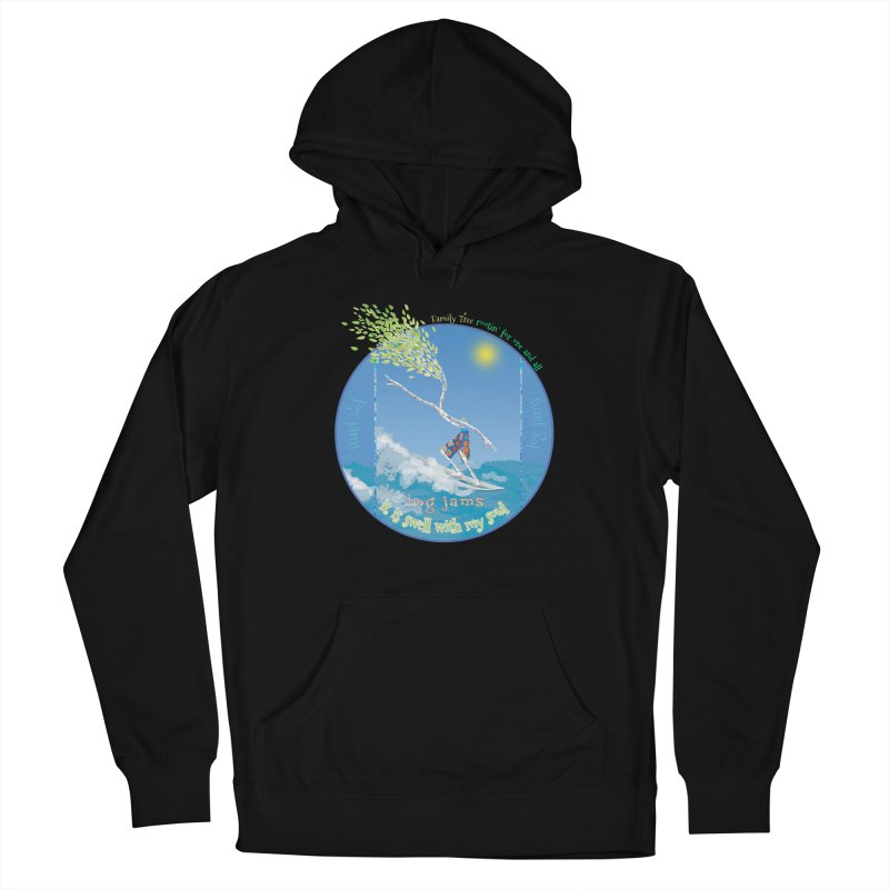 Log Jams Women's French Terry Pullover Hoody by Family Tree Artist Shop