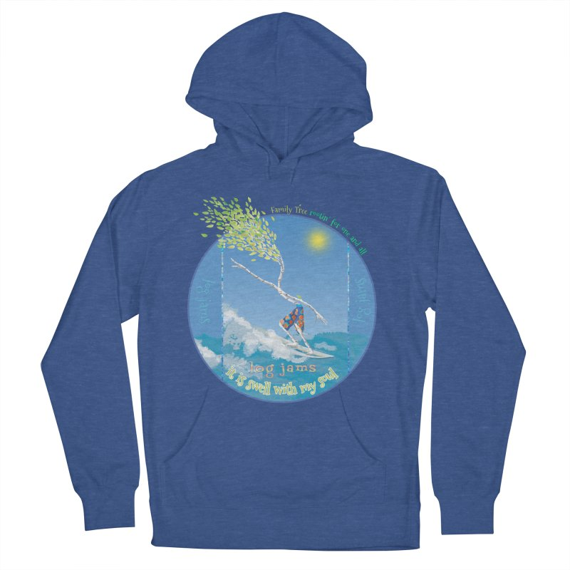 Log Jams Men's French Terry Pullover Hoody by Family Tree Artist Shop