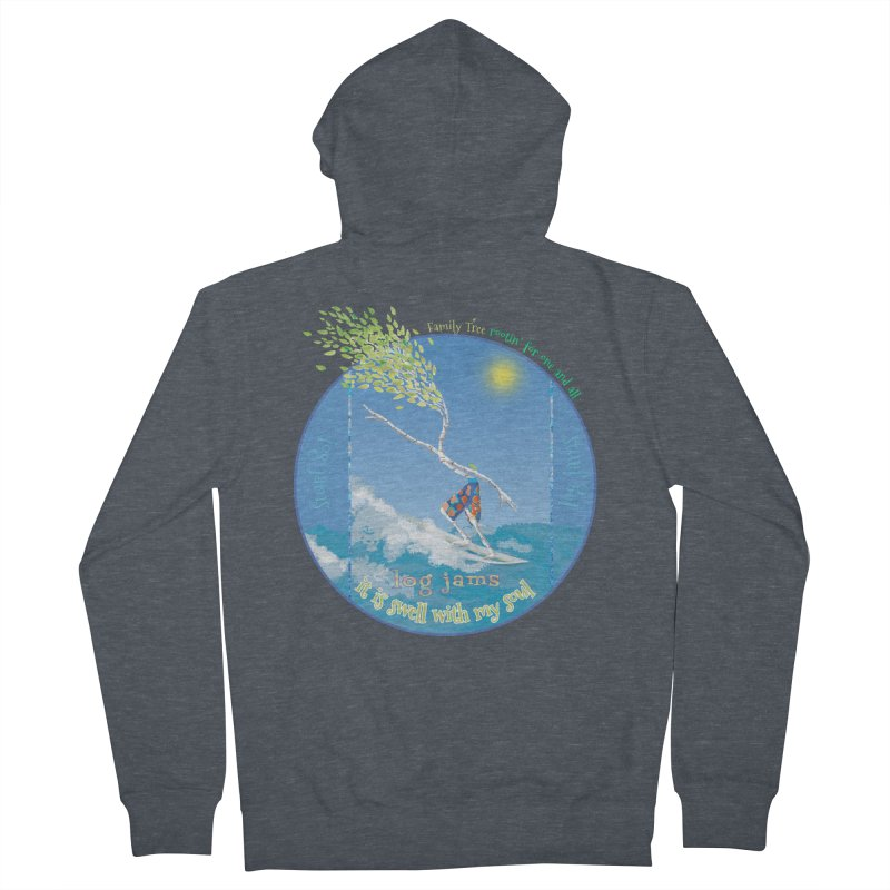 Log Jams Women's French Terry Zip-Up Hoody by Family Tree Artist Shop