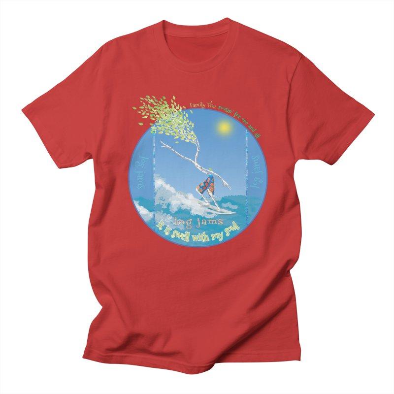 Log Jams Men's Regular T-Shirt by Family Tree Artist Shop