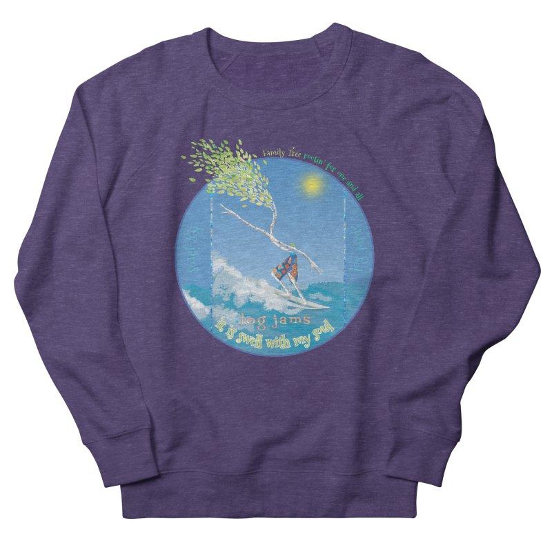 Log Jams Women's French Terry Sweatshirt by Family Tree Artist Shop