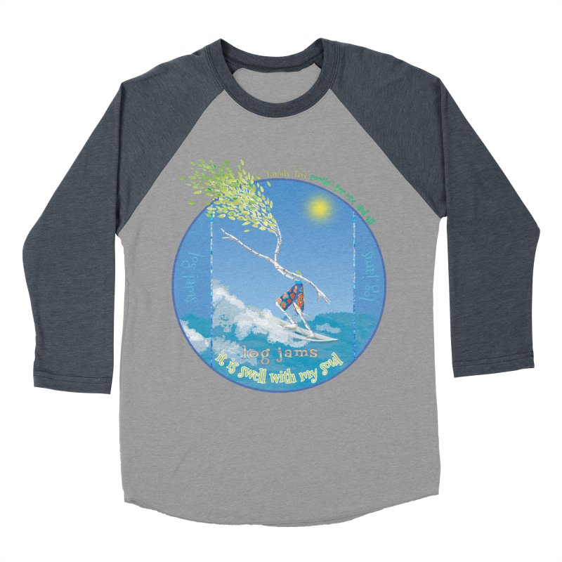 Log Jams Men's Baseball Triblend Longsleeve T-Shirt by Family Tree Artist Shop