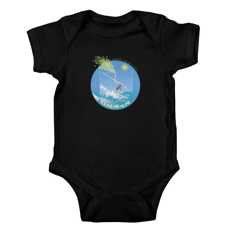 Log Jams Kids Baby Bodysuit by Family Tree Artist Shop