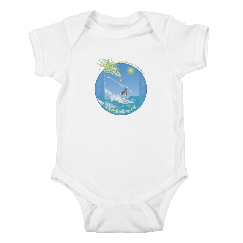 Log Jams Kids Baby Bodysuit by Family Tree Artist Shop