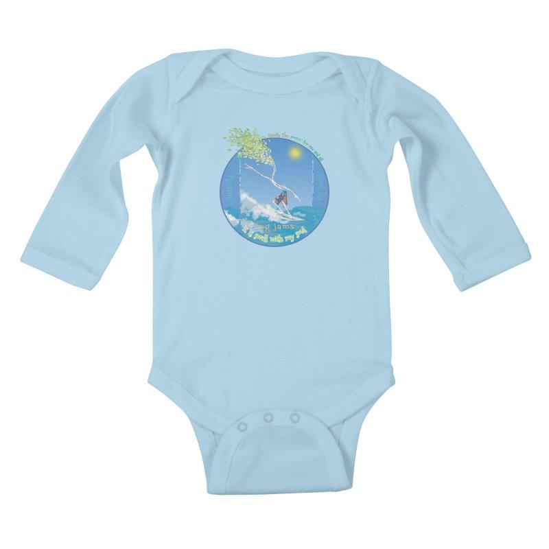 Log Jams Kids Baby Longsleeve Bodysuit by Family Tree Artist Shop