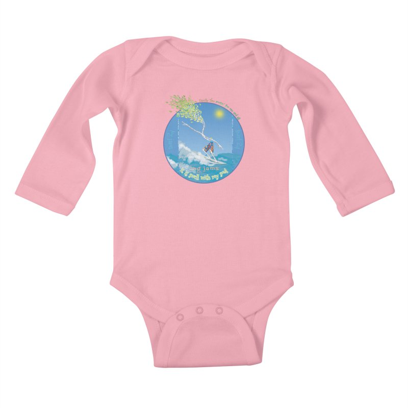 Log Jams Kids Baby Longsleeve Bodysuit by Family Tree Artist Shop