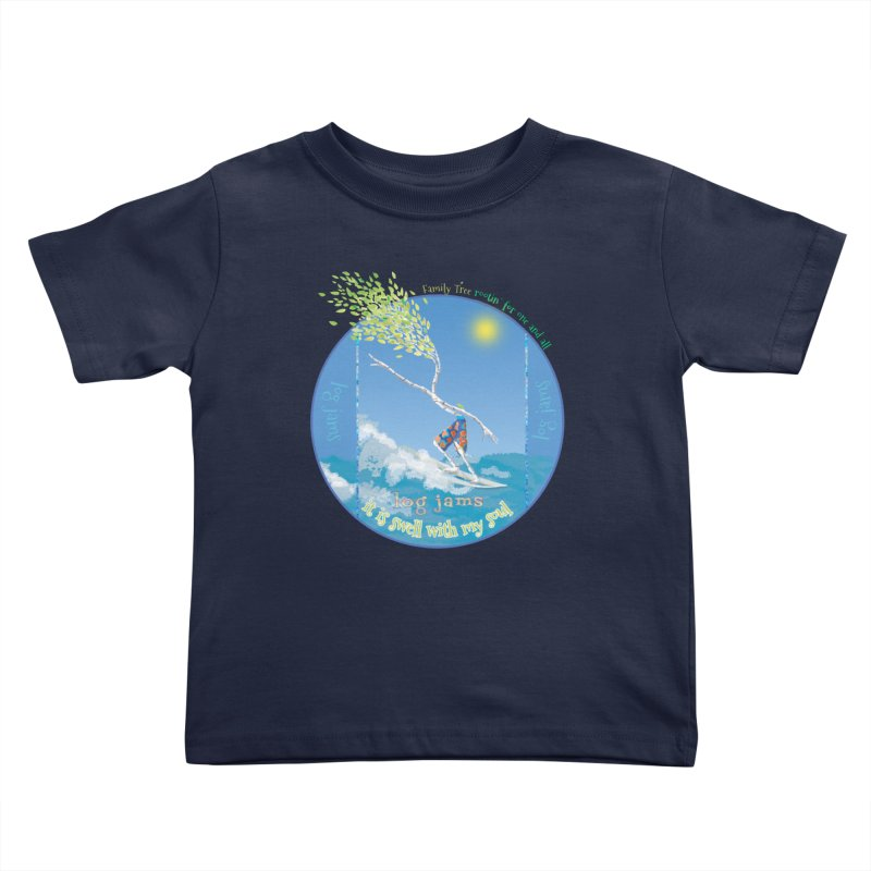 Log Jams Kids Toddler T-Shirt by Family Tree Artist Shop