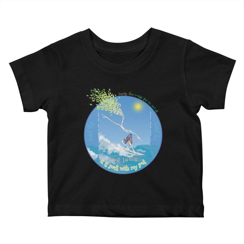 Log Jams Kids Baby T-Shirt by Family Tree Artist Shop