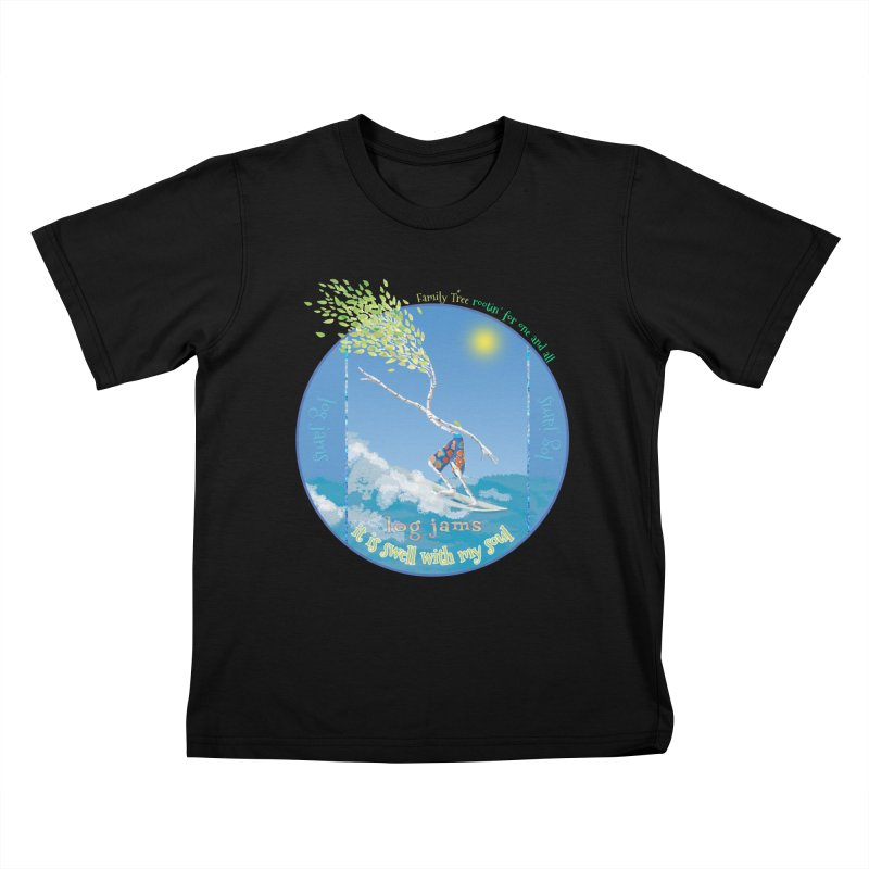 Log Jams Kids T-Shirt by Family Tree Artist Shop