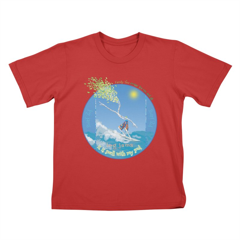 Log Jams Kids T-Shirt by Family Tree Artist Shop