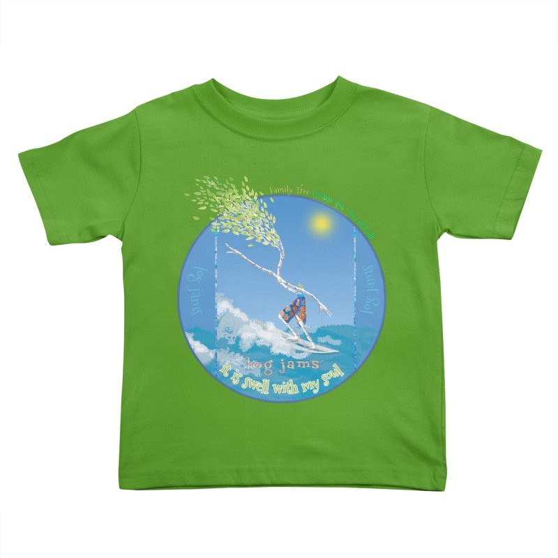 Log Jams Kids Toddler T-Shirt by Family Tree Artist Shop