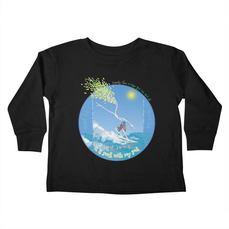 Log Jams Kids Toddler Longsleeve T-Shirt by Family Tree Artist Shop