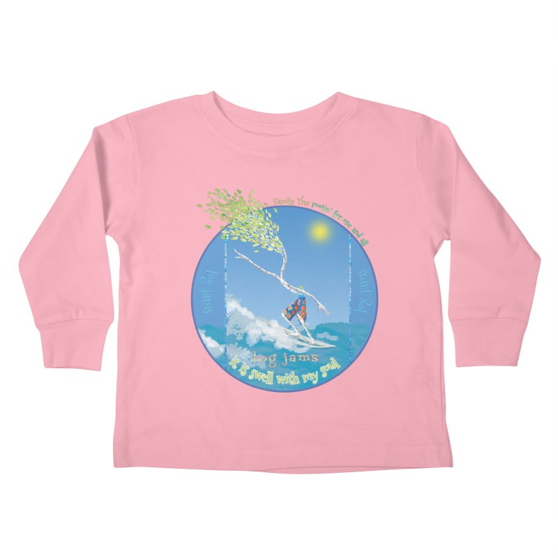 Log Jams Kids Toddler Longsleeve T-Shirt by Family Tree Artist Shop