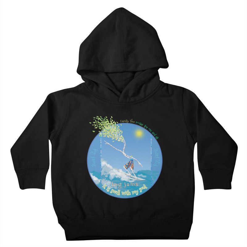Log Jams Kids Toddler Pullover Hoody by Family Tree Artist Shop