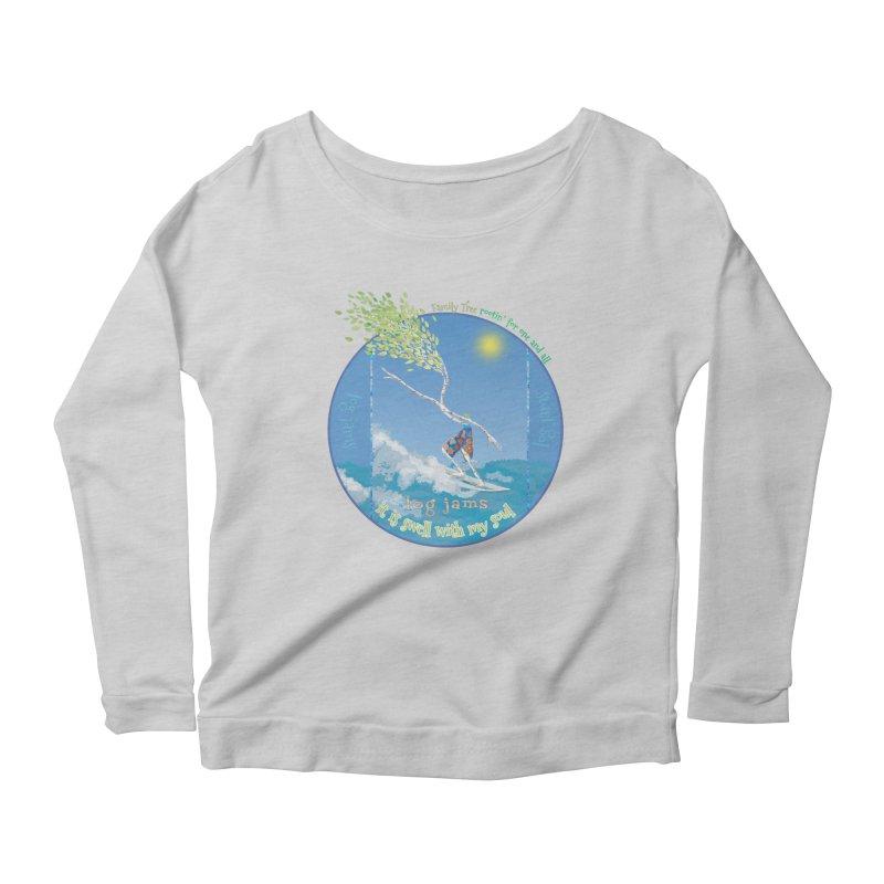 Log Jams Women's Scoop Neck Longsleeve T-Shirt by Family Tree Artist Shop