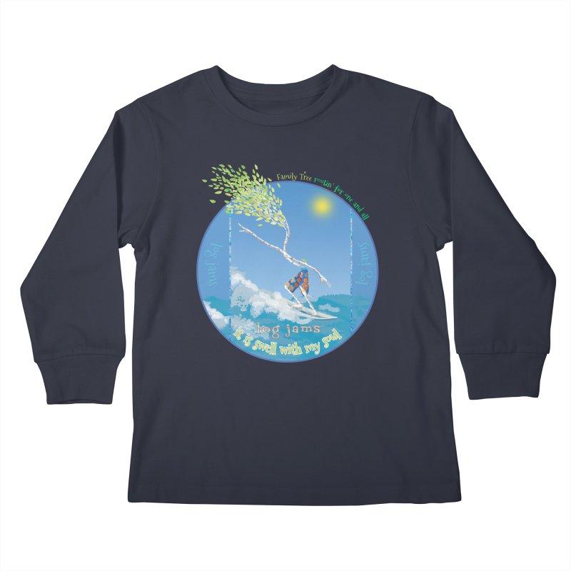 Log Jams Kids Longsleeve T-Shirt by Family Tree Artist Shop