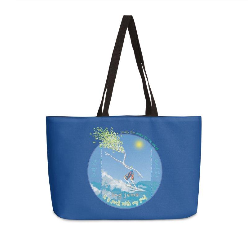 Log Jams Accessories Weekender Bag Bag by Family Tree Artist Shop
