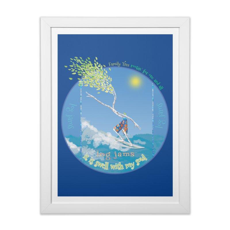 Log Jams Home Framed Fine Art Print by Family Tree Artist Shop