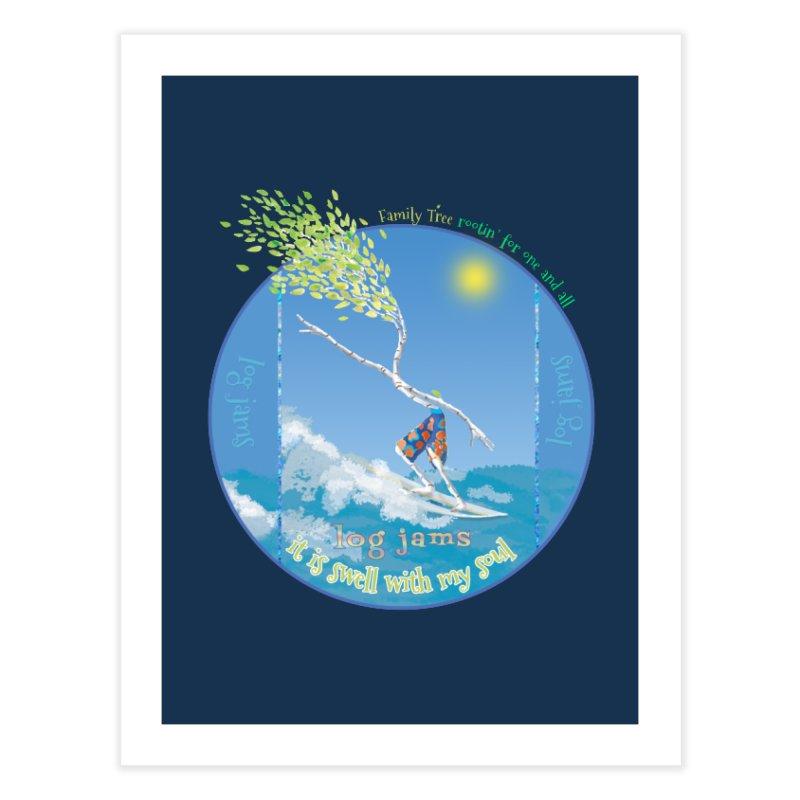 Log Jams mini Home Fine Art Print by Family Tree Artist Shop