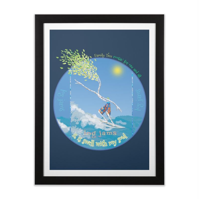Log Jams mini Home Framed Fine Art Print by Family Tree Artist Shop