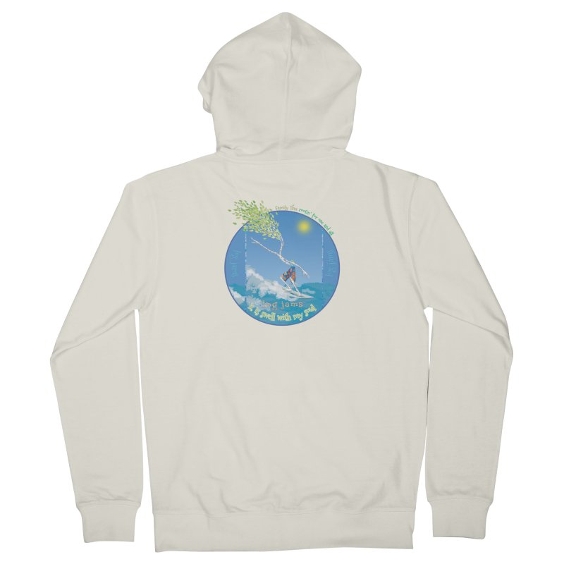 Log Jams mini Women's French Terry Zip-Up Hoody by Family Tree Artist Shop