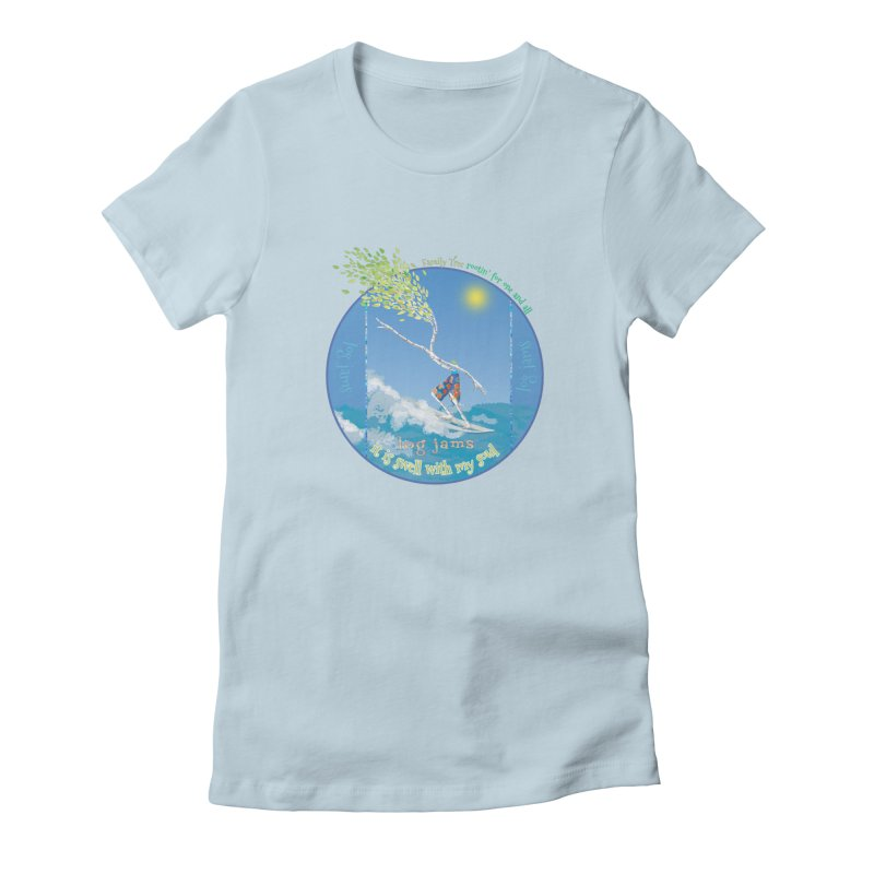 Log Jams mini Women's Fitted T-Shirt by Family Tree Artist Shop