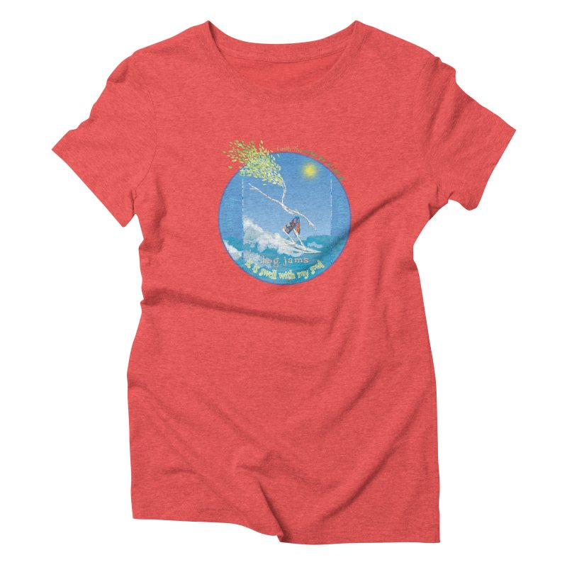 Log Jams mini Women's Triblend T-Shirt by Family Tree Artist Shop