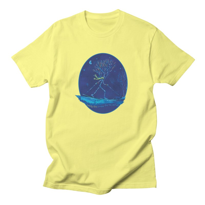x countree skiing Men's T-Shirt by Family Tree Artist Shop