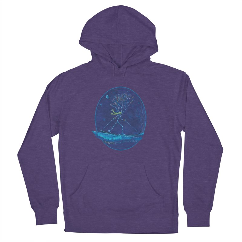 x countree skiing Men's French Terry Pullover Hoody by Family Tree Artist Shop