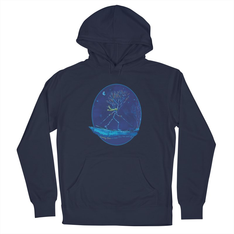 x countree skiing Men's Pullover Hoody by Family Tree Artist Shop