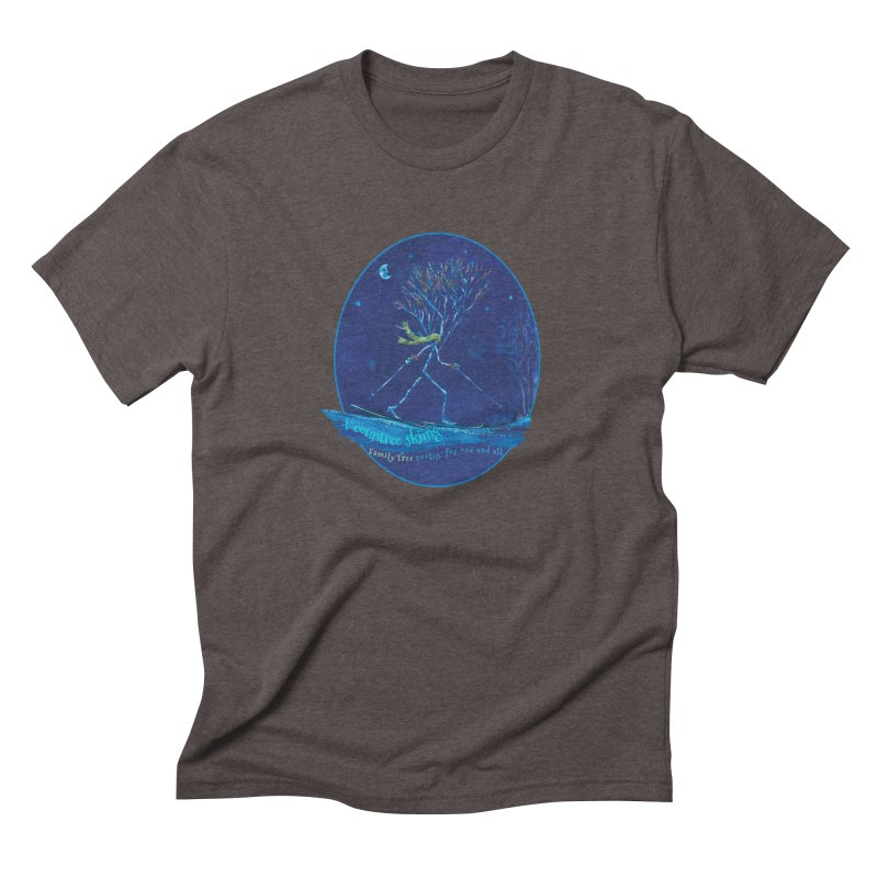 x countree skiing Men's Triblend T-Shirt by Family Tree Artist Shop