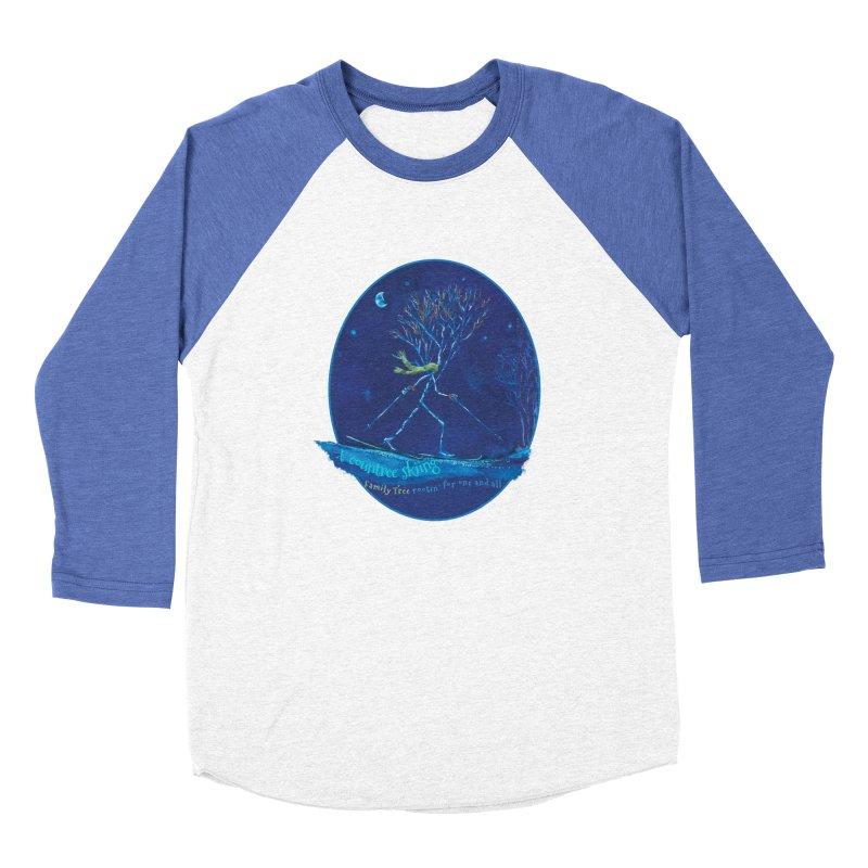 x countree skiing Women's Baseball Triblend Longsleeve T-Shirt by Family Tree Artist Shop