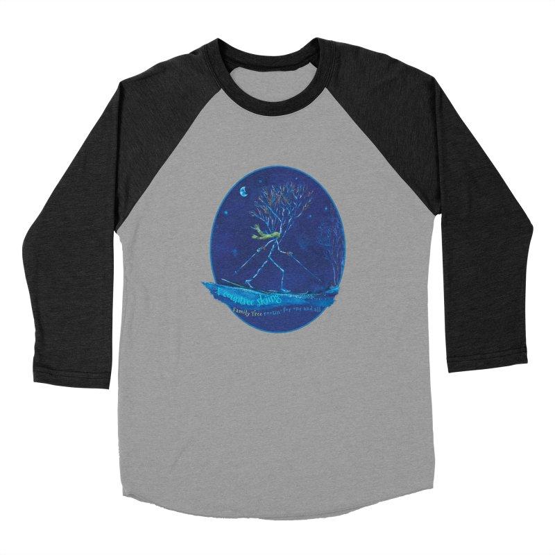 x countree skiing Men's Baseball Triblend Longsleeve T-Shirt by Family Tree Artist Shop