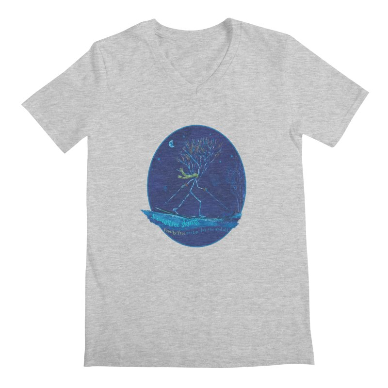 x countree skiing Men's V-Neck by Family Tree Artist Shop
