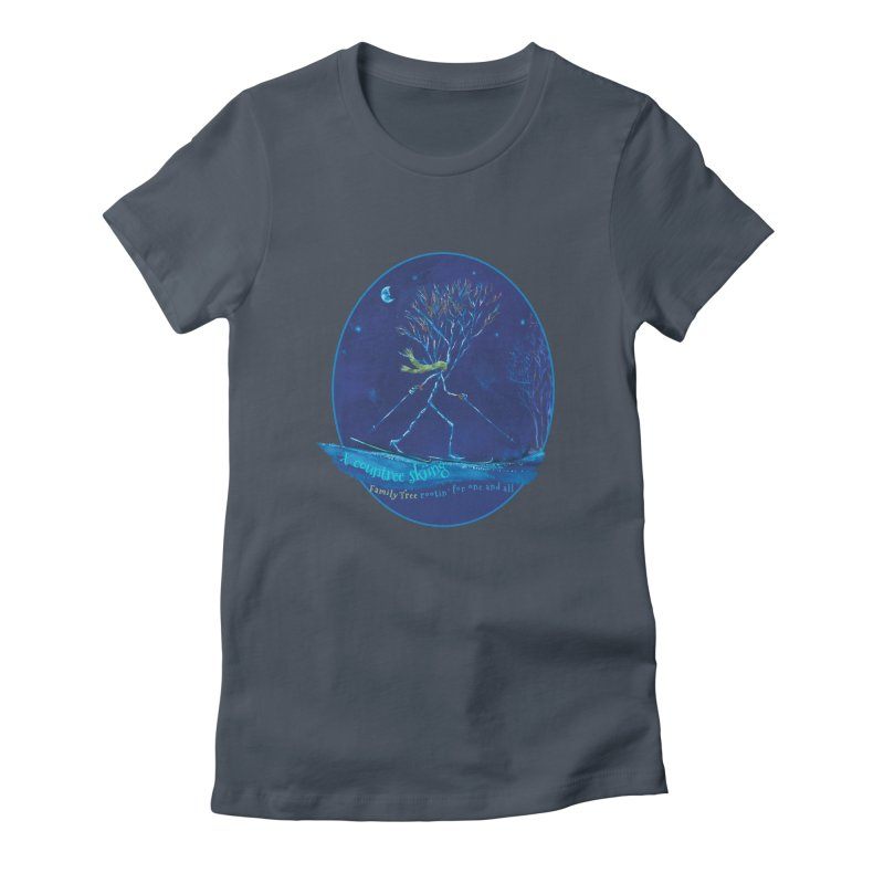 x countree skiing Women's T-Shirt by Family Tree Artist Shop