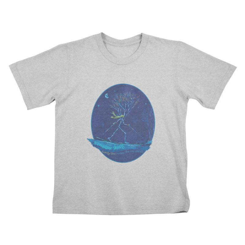 x countree skiing Kids T-Shirt by Family Tree Artist Shop