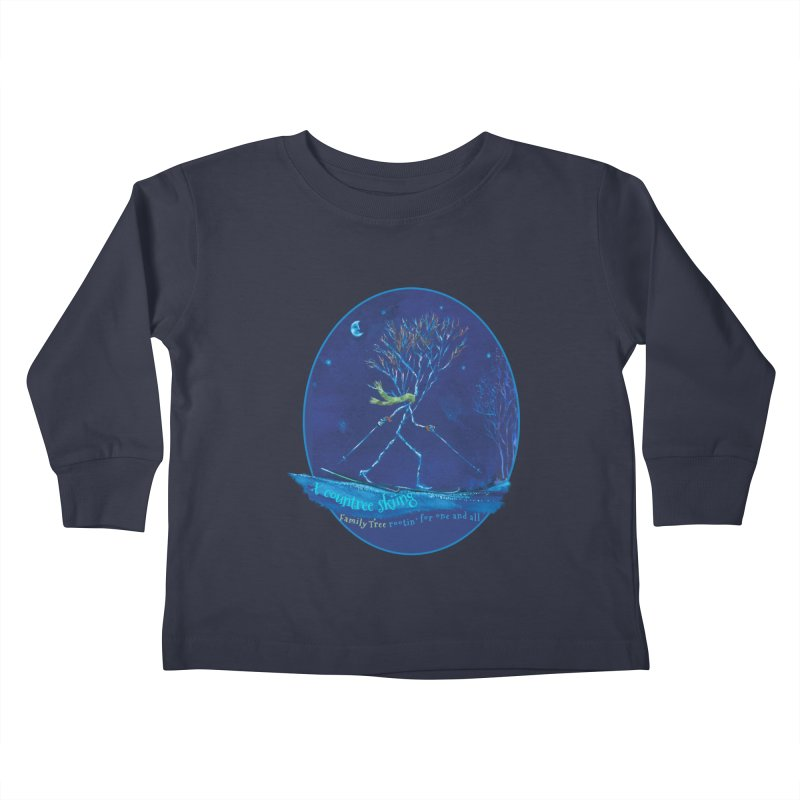 x countree skiing Kids Toddler Longsleeve T-Shirt by Family Tree Artist Shop