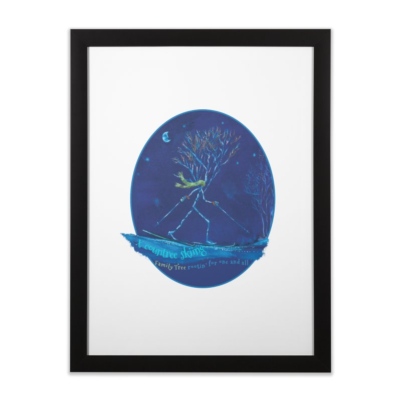 x countree skiing Home Framed Fine Art Print by Family Tree Artist Shop