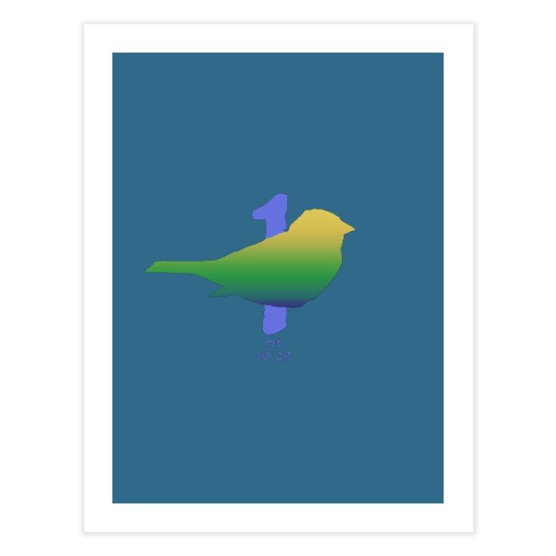 1 sparrow Home Fine Art Print by Family Tree Artist Shop