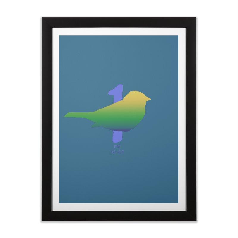1 sparrow Home Framed Fine Art Print by Family Tree Artist Shop