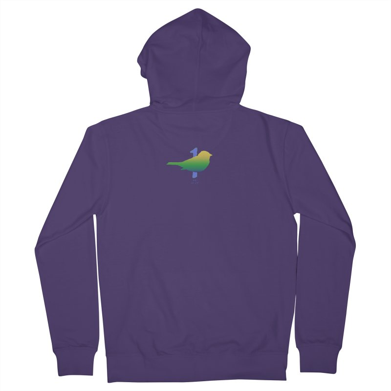 1 sparrow Women's French Terry Zip-Up Hoody by Family Tree Artist Shop