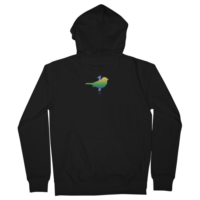 1 sparrow Men's French Terry Zip-Up Hoody by Family Tree Artist Shop