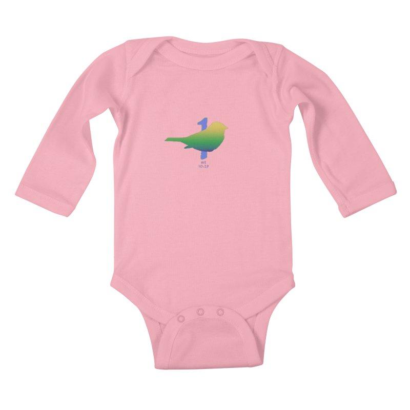 1 sparrow Kids Baby Longsleeve Bodysuit by Family Tree Artist Shop