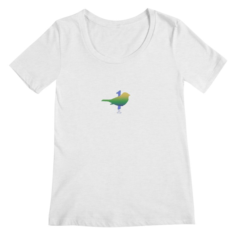 1 sparrow Women's Regular Scoop Neck by Family Tree Artist Shop