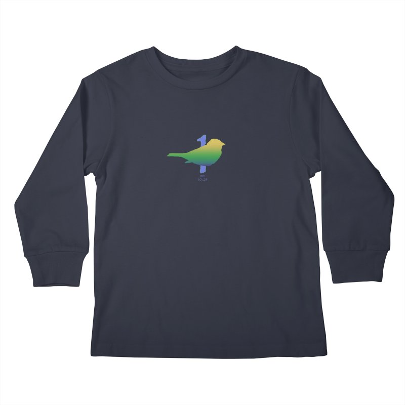 1 sparrow Kids Longsleeve T-Shirt by Family Tree Artist Shop